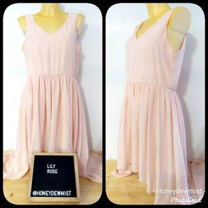 LILY ROSE Baby Pink Sleeveless Hi Low Dress